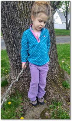Lovebug rocking her Caldera Jr trail shoes from Northside